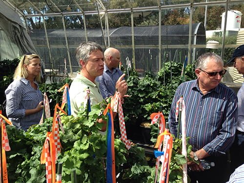 Agricultural Industry Advisory Council members tour Waite