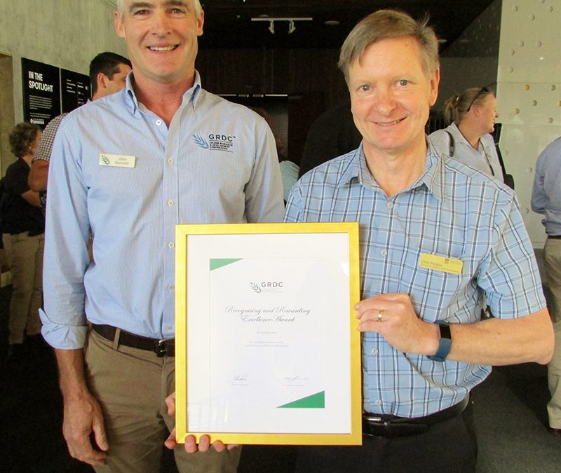 Chris Preston recognised for grains industry contribution